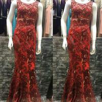 gaun merah READY cabe 0NH/mewah elegant