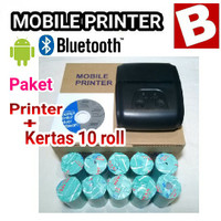 Paket Printer dan 10 Roll Kertas EPPOS EPP200 Bluetooth Android