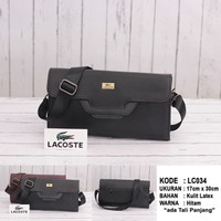 (LACOSTE) CLUTCH BAG / HANDBAG / SHOULDER BAG UNISEX KULIT IMPORT