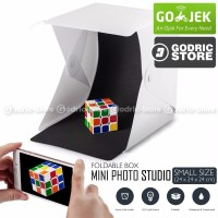 Mini Photo Studio Box Folding Kotak Tempat Foto Portable with LED