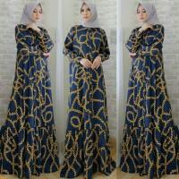 Maxi rantai,baju muslim modern,fashion wanita,gamis simple,promo,SG
