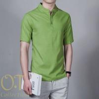 Harga fashion koko syarif green ot baju koko pria katun twill | WIKIPRICE INDONESIA