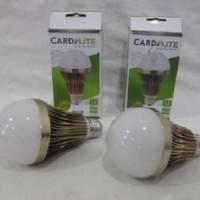 Lampu LED 12w Bulb CARDILITE Alumunium Gold Anti Panas Extra Terang