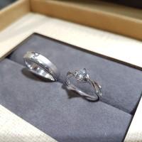 cincin wedding emas putih 18k AuAg  + platinum