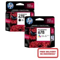 [Paket Hemat] TINTA HP 678 BLACK & TRI-COLOR Original