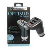 A27973 Cennotech 3 USB Port Car Charger Optimus Qualcomm