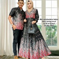 Batik Couple Gamis / Sarimbit Batik Semi Sutra Halus Rabbani Dnt Murah