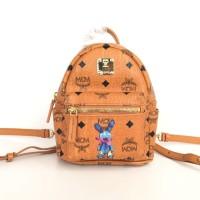 Tas Ransel MCM Stark Rabbit (Mini Backpack) - Orange Brown - ORIGINAL