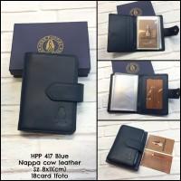 dompet card pria hushpupies 417 dompet card wanita lipat kulit asli - Cokelat Muda