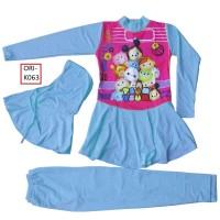 Baju Renang Anak Muslim Karakter Tsum-Tsum - K063SD