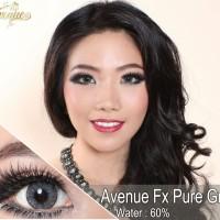 warna mata  Softlens Avenue FX Pure Gray (Abu Gelap)