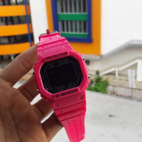 JAM TANGAN G-SHOCK PROTECTION WANITA CASIO DW PINK FANTA WOOD SERIES