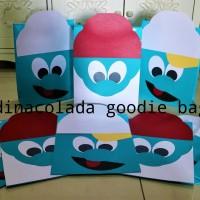 Goodie Bag / Goody Bag / Tas Kertas Smurf  1 pack : 10 pcs