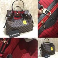 Tas wanita branded Louis Vuitton Neverfull import murah cantik cewek 83b564b3e7