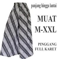 Bawahan batik Celana Kulot batik Panjang C100 hitam putih