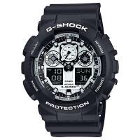Jam Tangan G-SHOCK ORIGINAL PRIA GA-100BW-1A HITAM PUTIH