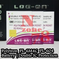 Baterai Polytron Rocket R3 R2407 PL-6M4C PL-604 Double IC Protection