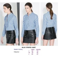 BLUE STRIPED SHIRT. Made in Turkey - FACTORY OUTLET BRANDED