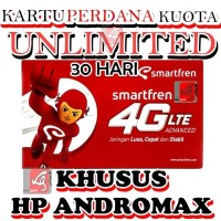 kartu perdana internet smartfren unlimited 30 hari utk HP andromax 24j