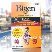 Semir Rambut BIGEN A BLACK 6g | Semir Pewarna Warna Rambut HITAM Bubuk