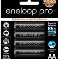 Baterai isi ulang Rechargeable Panasonic Eneloop Pro AA A2 2550mAh