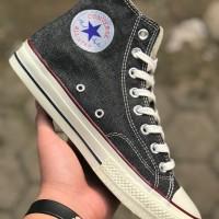 Sepatu Sneakers Converse 70s High Black Denim Premium Paling Laris