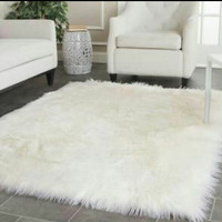 [PROMO] Paket Karpet bulu korea warna putih 1x1.3 m isi 20 lembar