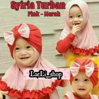 jilbab anak bayi turban 2in1