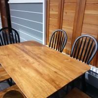 meja makan minimalis, kursi makan, furniture murah, kursi cafe