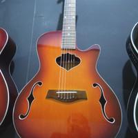Gitar akustik model body hollow merk Allegro