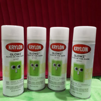 cat glow in the dark green.cat menyala dalam gelap KRYLON