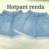HOTPANTS RENDA / HOTPANS JEANS / CELANA PENDEK WANITA