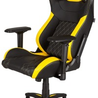 CORSAIR T1 RACE Gaming Chair Black-Yellow