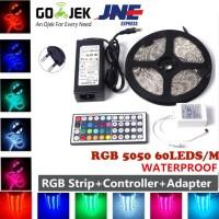 Jual 5M RGB LED STRIP 5050 + ADAPTOR 12V (lampu led) Murah