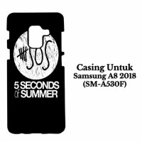 Casing SAMSUNG A8 2018 5 Second Of Summer Log Hardcase Custom