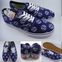 Sepatu Kets Supreme X Vans Era Fvck Em Collaboration Navy Blue Biru