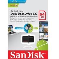 Jual Sandisk Flashdisk Ultra Usb 3.0 Dual Drive Otg 64Gb - Garansi
