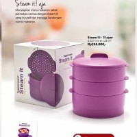 Steam It Tupperware Kukusan 3 Susun Purple Ungu