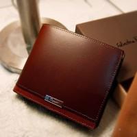 BEST SELLER !! dompet kulit pria import DK8F Brown / coklat MURAH !!