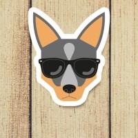 Sticker Anjing Doberman Pinscher