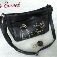 Bag Sweet Humairo,tas selempang wanita Muslimah,perempuan.tas Hitam