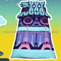 Terbaru Bedcover Set California Eiffel Single 120 No.3 Seprai Menara