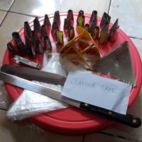 1 set alat penghias kue / dekorasi kue paling lengkap