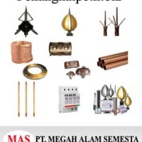 Paket Penangkal Petir Gent R150 Kabel Coaxial 2x35mm