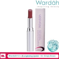 Wardah Long Lasting Lipstick 03 Simply Brown
