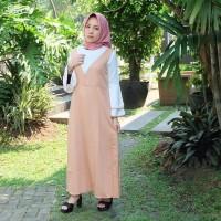 HITZ NOW Baju Rolly Maxi Long Dress Wanita Lengan Panjang Import