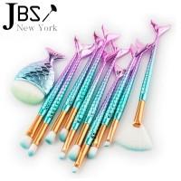 JBS New York makeup brush 11 Mermaid biru pink K - 034