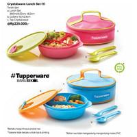 Tupperware Fancy Crystalwave Lunch Set Tempat Makan