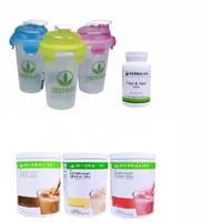 Shake Herbalife/TOSERASERA Herbalifee--( 3 SHAKE MIX+1 FIBER+1 GELAS )