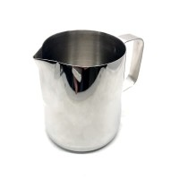 DTCUSTOMS ZERO Milk Frothing Jug Polished Stainless Steel 360ml